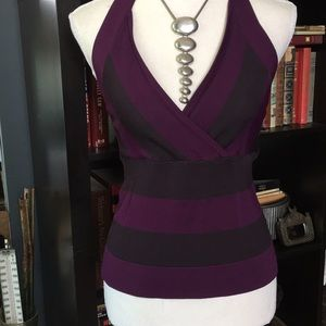 Purple & Gray Summer Top M